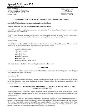 Florida Limited Liability Company Inquiry Packet