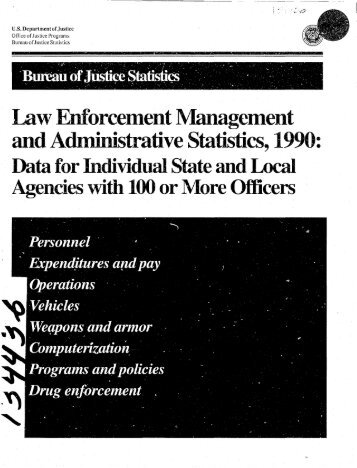 Law Enforcement Management and Administration Statistics, 1990 ...