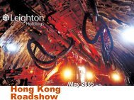 Hong Kong Roadshow Presentation (PDF - 1004.3 KB)
