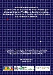 Relatório de pesquisa - Rede ObservaRH