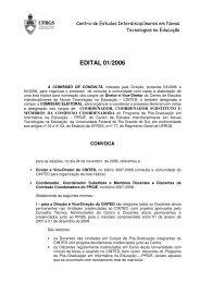 Edital 2006 Convocação - cinted/ufrgs