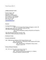 Nirmal Tejwani, MD, CV Nirmal C Tejwani, MD Associate Professor ...