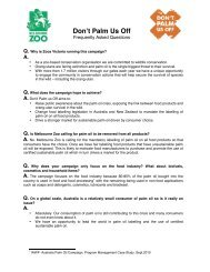 Palm Oil FAQ Royal Melbourne Zoo - Achieving A Sustainable ...