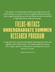 FIELDS INSTITUTE Research in Mathematical ... - Dmitry Pelinovsky