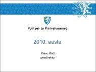 2010. aasta töötulemused - Politsei