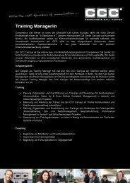 Training Manager/in - Competence Call Center