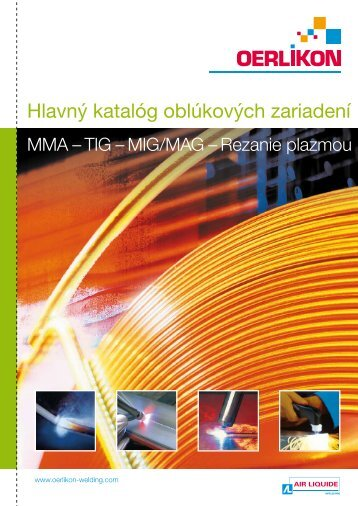 Hlavný katalóg oblúkových zariadení - Air Liquide Welding