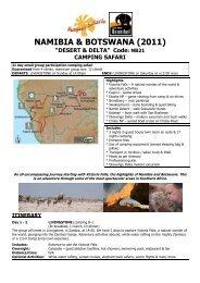 Sunway NB21 Namibia Botswana Desert Delta ... - Jesper Hannibal