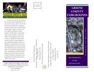 GREENE COUNty FAiRGROUNDS