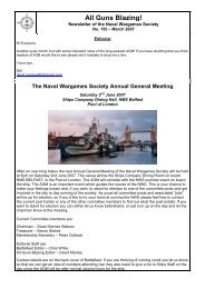 March - The Naval Wargames Society