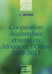 Flyer - Etude : « Santé et coopération décentralisée - Cités Unies ...