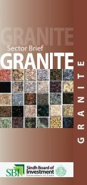 Granite Profile - Sindh Board Of Investment, Government Of Sindh