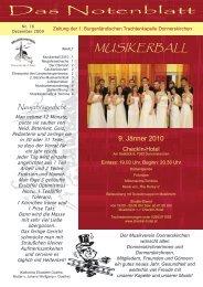 Das Notenblatt - Musikverein 1. Burgenländische Trachtenkapelle ...