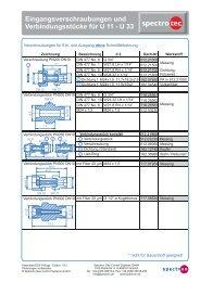 Verschraubungen U11-U47 (pdf, 94.8 KB) - Spectron