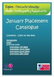 January Placement Catalogue - WCVA