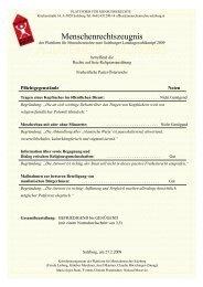 Menschenrechtszeugnis - Plattform für Menschenrechte Salzburg
