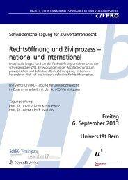 Flyer - Institut für Internationales Privatrecht und Verfahrensrecht ...
