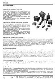Schutzschalter - RED - Elektromechanische Bauelemente
