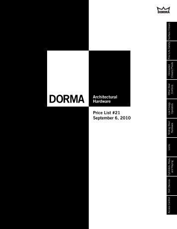 Dorma Sept 2010.pdf - Access Hardware Supply