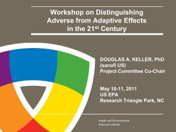 Workshop on Distinguishing Adverse from Adaptive Effects in the ...