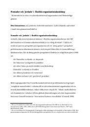 'jordade' i flexibla organisationslandskap - Institutionen för ...