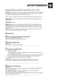 Menighedsrådsmøde torsdag den 8. oktober 2009 kl. 19.00 – 22.55 ...