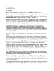 13 March 2012 Geneva, Switzerland STATEMENT Eelam ... - TamilNet