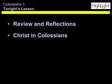 Christ in Colossians
