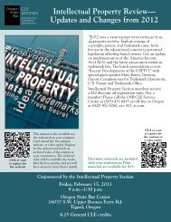 Intellectual Property Review— Updates and Changes from 2012