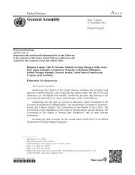 UN Resolution on Education for Democracy