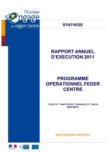 Plaquette RAE 2011 - L'Europe s'engage en région Centre
