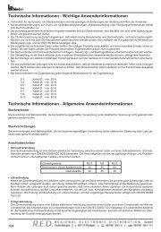 RED Katalogseiten - RED - Elektromechanische Bauelemente