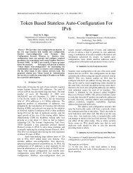 Token Based Stateless Auto-Configuration For IPv6 - Wisdom Based ...