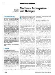 Stottern – Pathogenese und Therapie - Deutsches Ärzteblatt