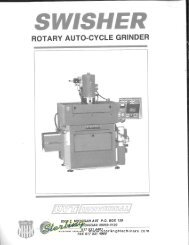 Swisher Rotary Auto Cycle Grinder Brochure - Sterling Machinery