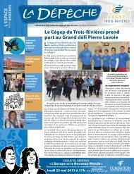 Le Cégep de Trois-Rivières prend part au Grand défi Pierre Lavoie