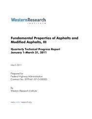 Fundamental Properties of Asphalts and Modified Asphalts, III