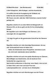 Begrüßung Uwe Bordanowicz - IG Metall Bruchsal
