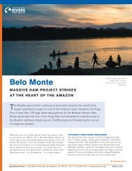 Belo Monte Fact Sheet - International Rivers