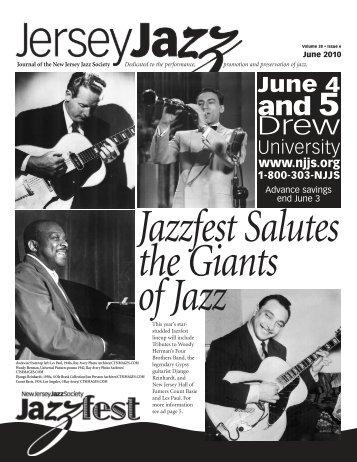 June 4 - New Jersey Jazz Society