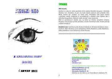 časopis Školní Oko 09 červen 2011 - 2. ZŠ Holešov