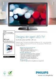 42PFL7605C/12 Philips LED-TV med Ambilight Spectra 2 och Pixel ...