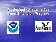 Mississippi - Alabama Sea Grant Extension Program