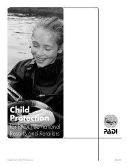 Child Protection For PADI International Resorts and ... - AQUATICA