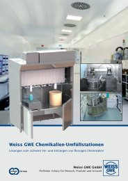 Weiss GWE Chemikalien-Umfüllstationen