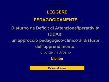 DDAI: un approccio pedagogico-clinico ai disturbi dell - descrittiva
