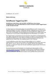 Schaffhauser Töggeli Cup 2011 - Swiss Casinos