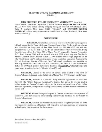 UTILITY PIPE BENT EASEMENT AGREEMENT [PE-UB5] THIS ...