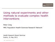 Using natural experiments and other methods to evaluate complex ...