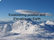 Establishing Position and Elevation on Earth